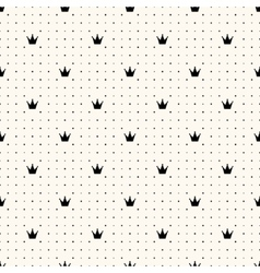 seamless crown retro pattern vector image vector image