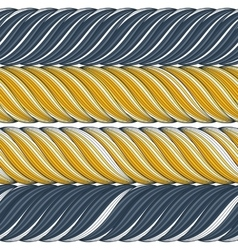 seamless pattern of interwoven ropes vector image vector image