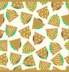 Set of color tortilla or sandwich tacos food vector