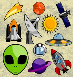 space design vector image