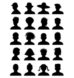 20 anonymous mugshots vector image