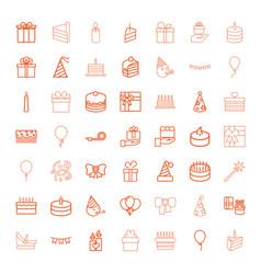 49 birthday icons vector image