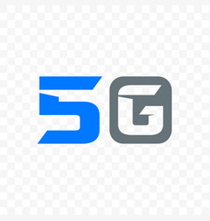 5g mobile internet network logo icon vector image