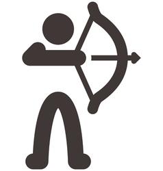 Archery icon vector image