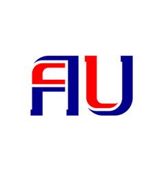 Au - abbreviation australia icon or logotype vector