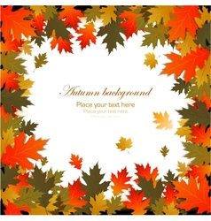 Background autumn leaves frame vector