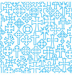 background pattern with crosses vector image