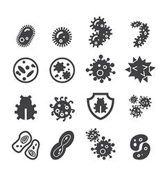 Bacteria icon vector