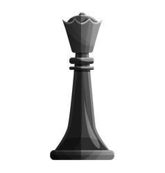 black queen piece icon cartoon style vector image