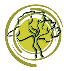Bonsai art icon vector