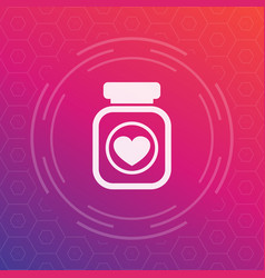bottle of pills icon pictogram vector image vector image