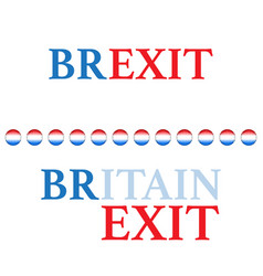 brexit text background different colors vector image