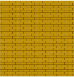 brick wall testure yellow color isolated vector image