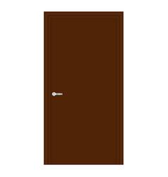 Brown wooden door vector