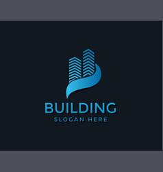 Building logo creative logo real estate logo city vector