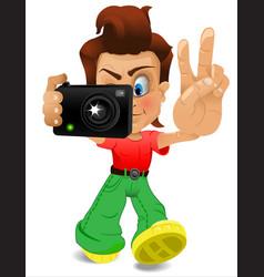 Cartoon bor with a camera eps 10 vector