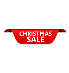 christmas sale red label vector image