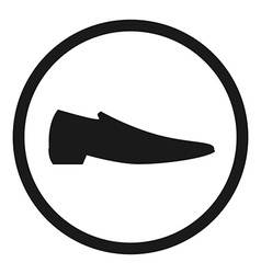 Classic man shoe silhouette vector image