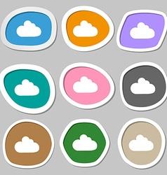 Cloud sign icon Data storage symbol Multicolored vector image