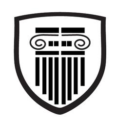 column shield vector image