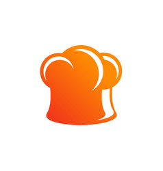 cooks hat icon chef logo design template vector image