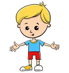 cute little boy cartoon kid character vector image