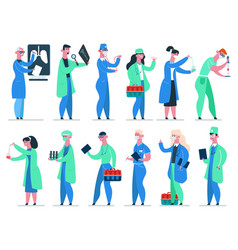 doctors team medicine hospital doctor medic vector image