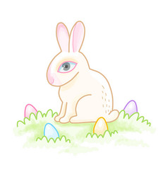 Easter bunny sitting vector
