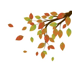Fall Leaves on Branch3 vector