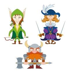 Fantasy heroes set vector image