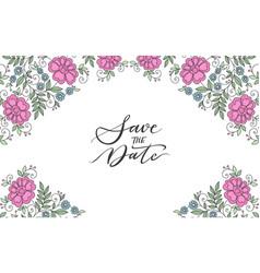 flower design ornament frame vector image