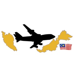 Fly me to the Malaysia vector