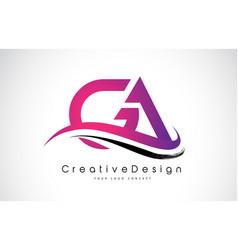 Ga g a letter logo design creative icon modern vector