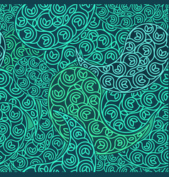 Green seamless pattern eco design vector
