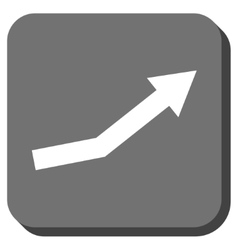 Growth Trend Rounded Square Icon vector