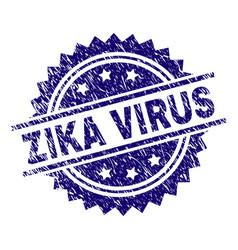 Grunge textured zika virus stamp seal vector