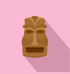 Hawaian idol icon flat style vector