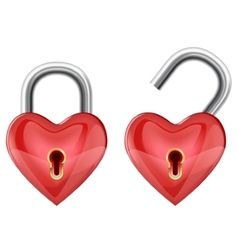 heart padlock vector image