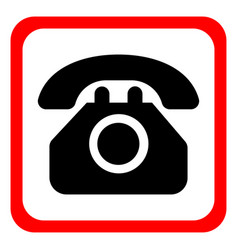 icon telephone on a white background vector image