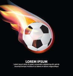 Isolated Soccer Ball or Football on Fire Flame vector