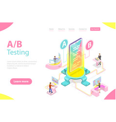 Isometric flat concept ab testing split vector