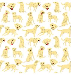 Labrador seamless pattern vector