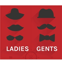 ladies and gents hipster set vector image