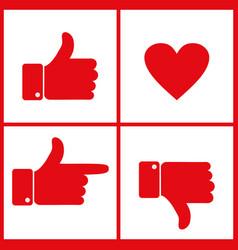 like dislike and heart icon vector image