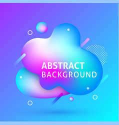 liquid abstract background banner vector image