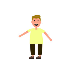 little boy flat vector image