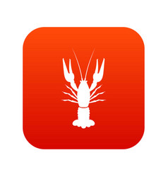 lobster icon digital red vector image