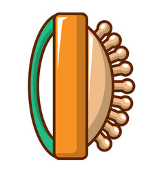 Massage brush icon cartoon style vector
