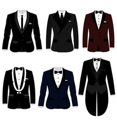 men s jacket collection wedding men s suit vector image