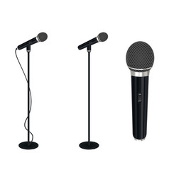 microphone with stand on white background vector image